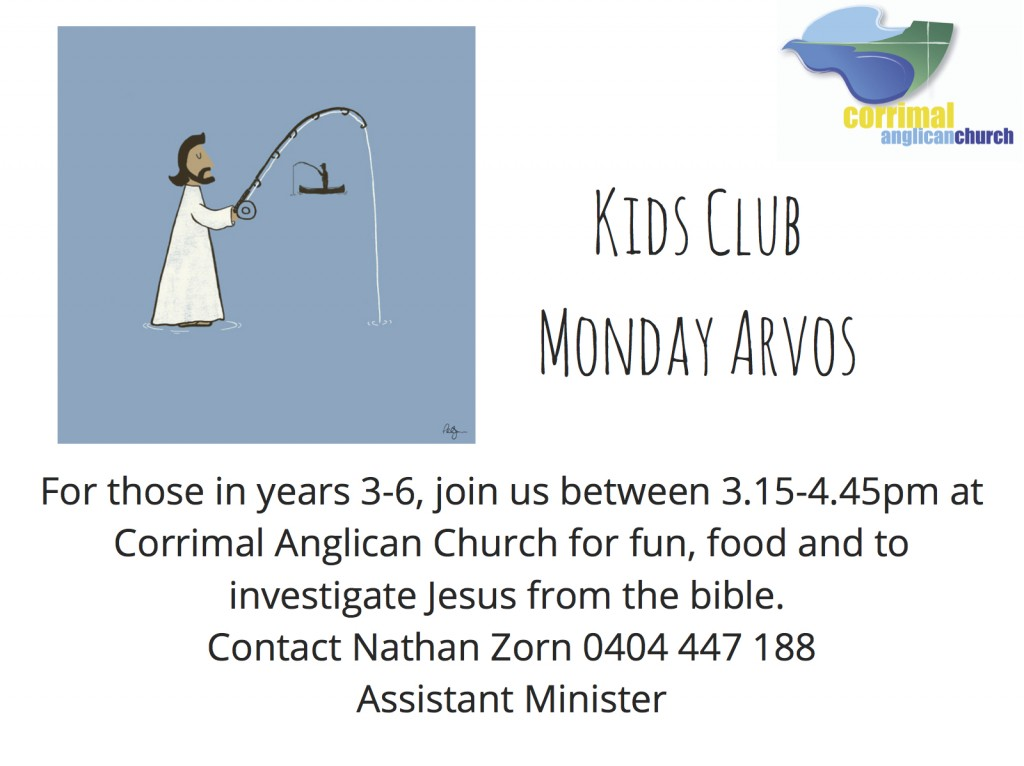 Kids Club flyer